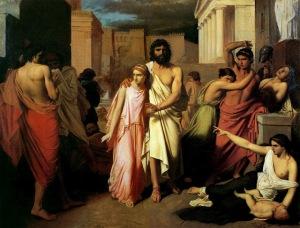 Édipo e sua filha desventurada em Colona